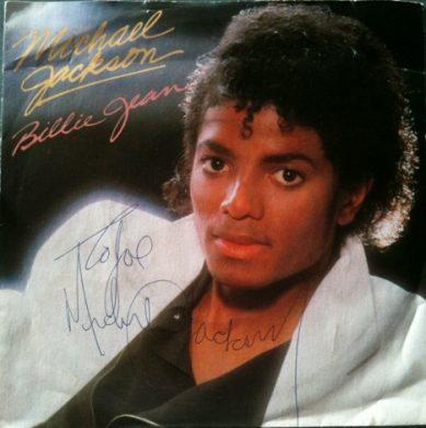 Michael Jackson autograph Billie Jean Thriller