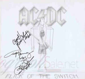 AC/DC Autographs Flick Of The Switch autographs autographs for sale