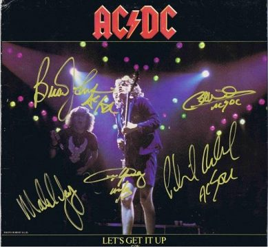 AC/DC Autographed Lets Get It Up autographs for sale