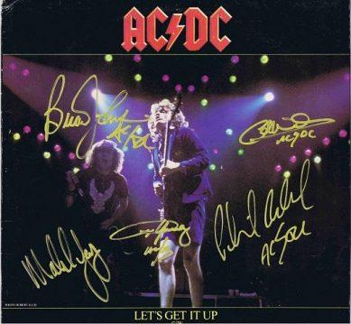 AC/DC Autographed Lets Get It Up autographs for sale