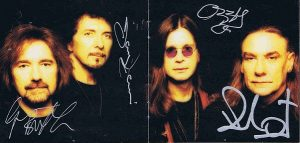 Black Sabbath autographs Reunion CD