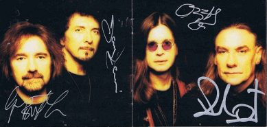 Black Sabbath autographed Reunion CD