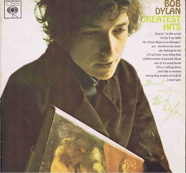 Bob Dylan Autographed Greatest Hits Lp