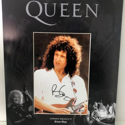 Brian May Queen Autographed photograph display 16×20″