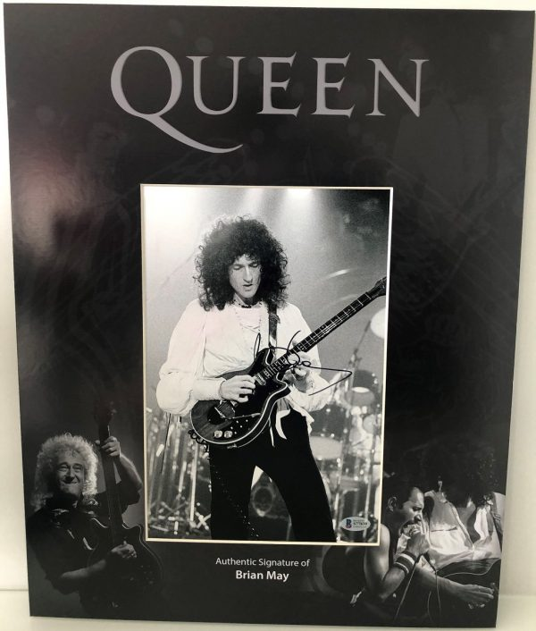 Brian May Autographs Queen signed photo 16×20 Mounted