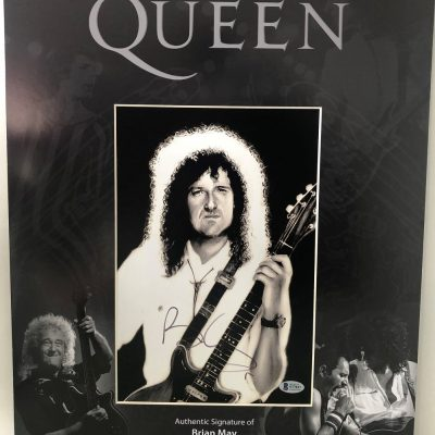 Brian May Queen signed Photo custom display 16×20″ Beckett COA