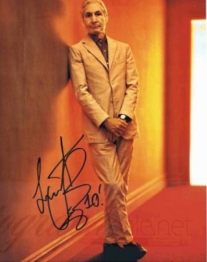 Charlie Watts Autograph The Rolling Stones