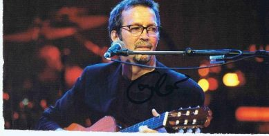 Eric Clapton Signed program page autographs