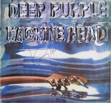 Ian Gillan Autographed Deep Purple Machine Head Lp