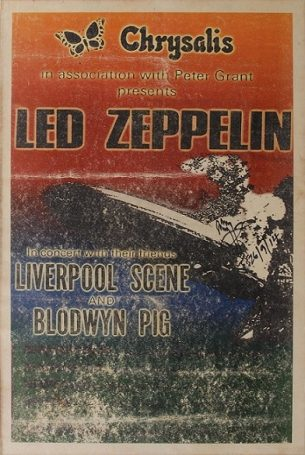 Jimmy Page autograph poster led zeppelin