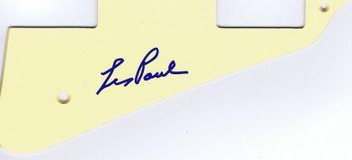 Les Paul Autographed pickguard Gibson Les Paul style