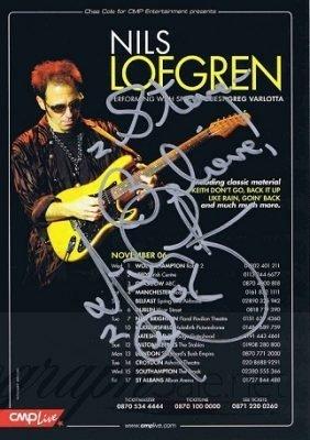 Nils Lofgren autographed concert flyer