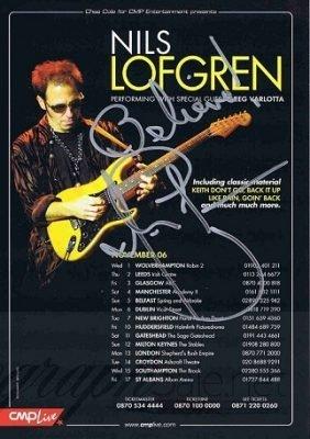 Nils Lofgren autographed concert flyer [3] Bruce Springsteen