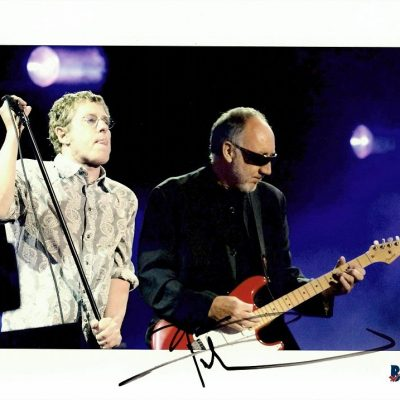 Pete Townshend autograph The Who colour photograph