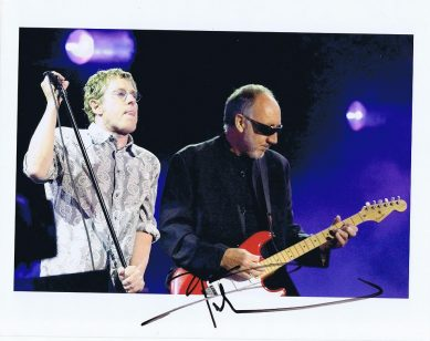 Pete Townshend autograph The Who colour photograph 2006