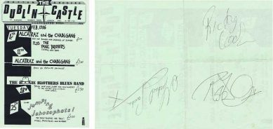 Dublin Concert Flyer hand signed by Robert Plant, Michael Sanchez and Ricky Cool