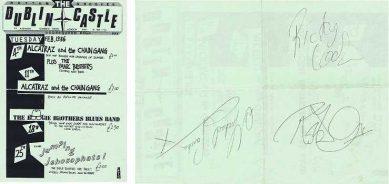 Robert Plant Autograph Dublin Concert flyer Michael Sanchez Ricky Cool