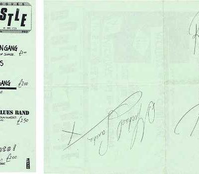 Robert Plant Autograph Dublin Castle Camden Concert flyer