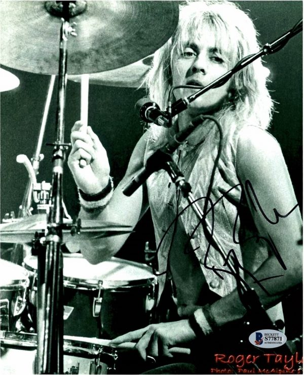 Roger Taylor Queen Autographed photo