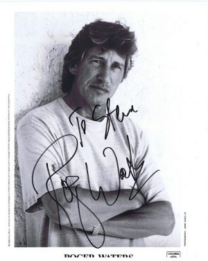 Roger Waters Autographed promo photo 8×10 Pink Floyd