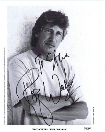 Roger Waters Autographed promo photo 8x10 Pink Floyd