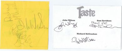 Rory Gallagher Taste Autographs