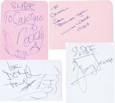 SLADE Autographs Noddy Holder