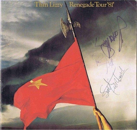 Thin Lizzy Autographed tour programme