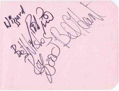 Wizzard autographs including Roy Wood. autographs for sale