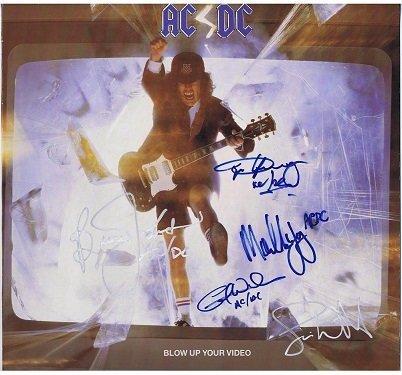 AC/DC Autograph Blow Up Your Video autographs for sale