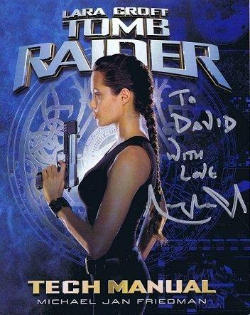 Angelina Jolie Autograph Tomb Raider