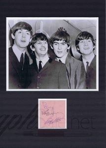 Paul McCartney and Ringo Starr autographs autographs for sale