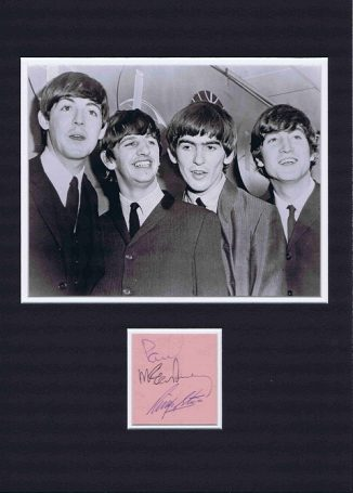 Paul McCartney George Harrison Ringo Starr The Beatles Autographs