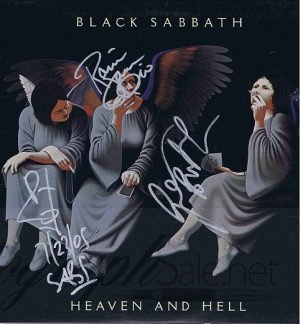 Black Sabbath Autographed Heaven and Hell album