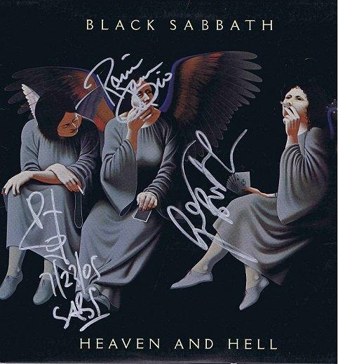 Black Sabbath Autographed Heaven and Hell album