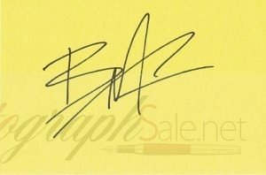 Brandon Lee Autographed Index card Bruce's son - The Crow