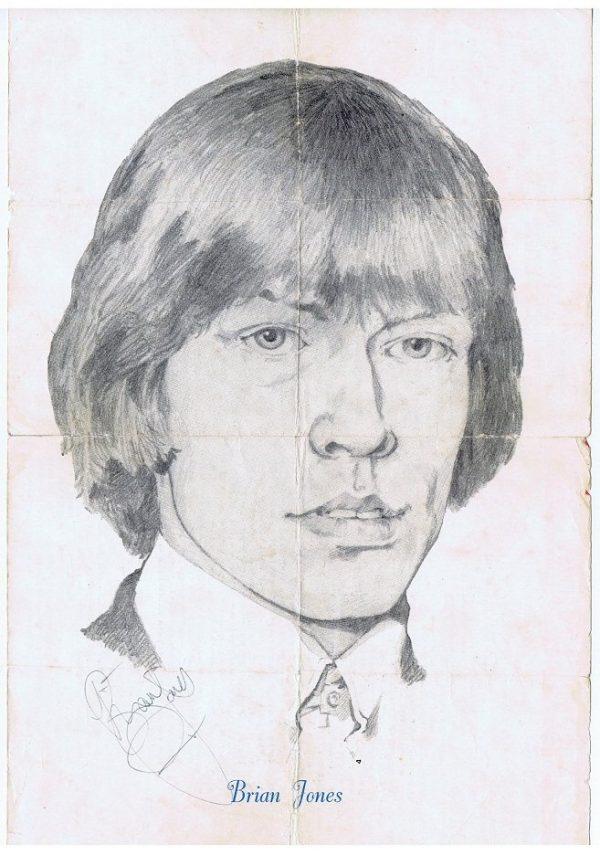 Brian Jones Autograph The Rolling Stones