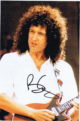 Brian May Queen Autographed photograph 12x8 1. Queen Autographs