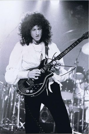 Brian May Queen Autographed photograph 12x8 #2