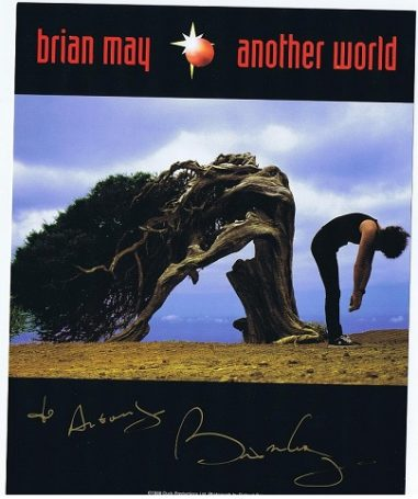 Brian May Queen Autograph colour photo