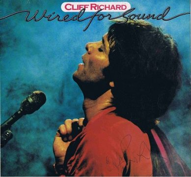 Cliff Richard Autographed Lp cover