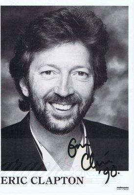 Eric Clapton autographed promo photo 1990