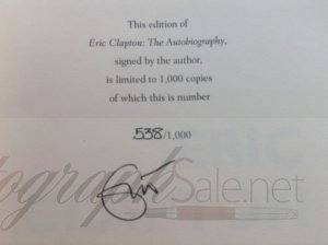 Eric Clapton Signed and Numbered Autobiography