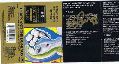 Eric Clapton autograph cassette cover 1998
