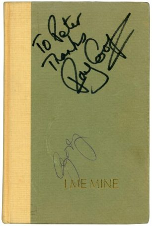 George Harrison The Beatles Autograph I ME MINE