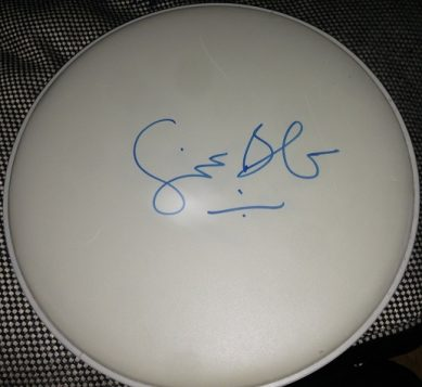 Ginger Baker [Cream] Autographed drumhead