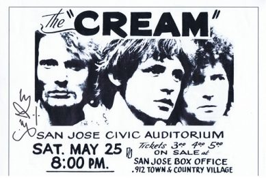 Ginger Baker CREAM Autographed flyer