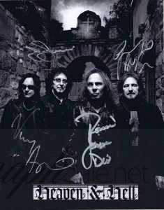 Black Sabbath / Heaven and Hell autographed 8×10