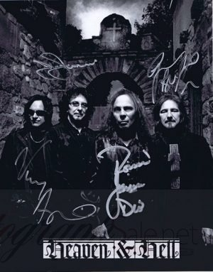 Black Sabbath Heaven and Hell autographs 8x10