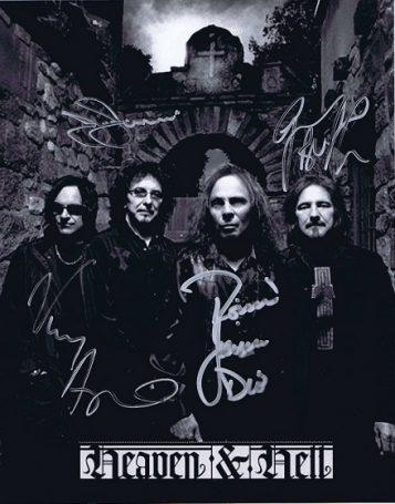 Black Sabbath Heaven and Hell autographs 8x10